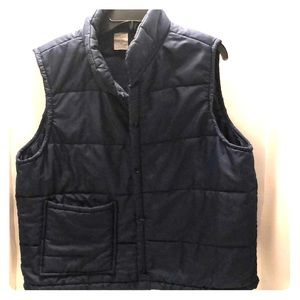 3/$20 Simple Navy Nylon Snap Vest size XL
